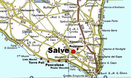Salve Puglia Cartina.Cartina Del Salento Salveweb It